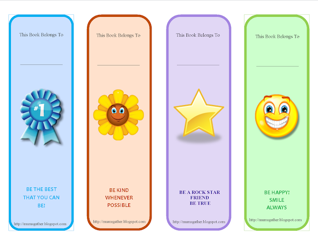 Free Printable Motivational Quotes Bookmark For Kids