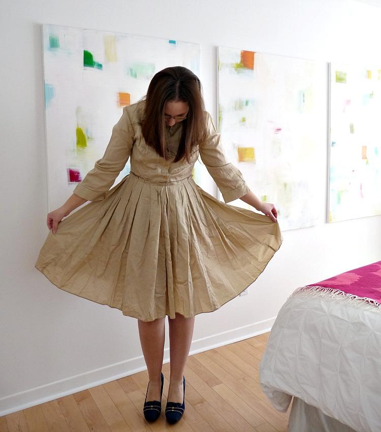 Can I dye a beige dress?