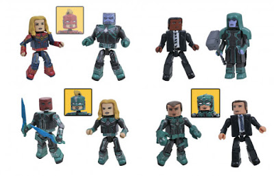 Walgreens Exclusive Captain Marvel Movie Marvel Minimates Series by Diamond Select Toys