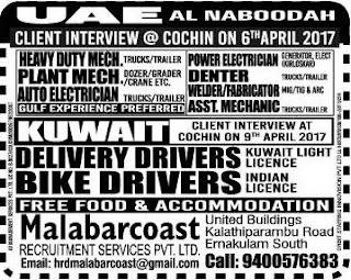 Al Naboodah UAE Company Interview at Kochi