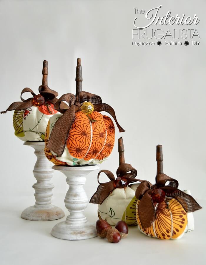 Modern Mid-Century Modern Fabric Pumpkins