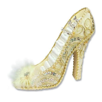 Sequin Covered Shoe Shaped Ring Display