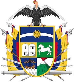 1843 Escudo del Ecuador historic national emblem