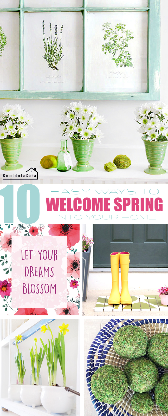 Simple ways to bring Spring inside your  home