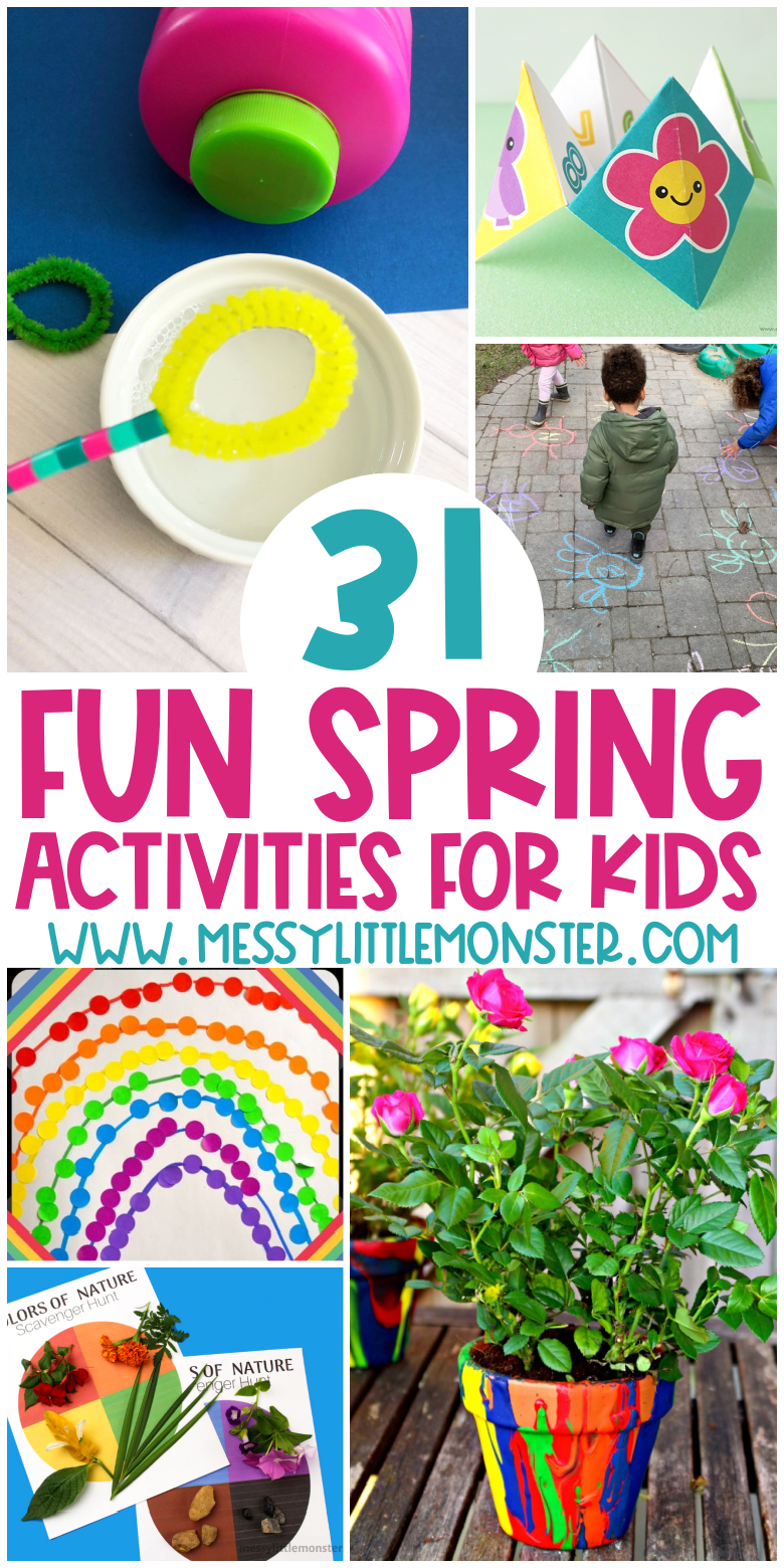 Fun spring activities for kids, toddlers and preschoolers