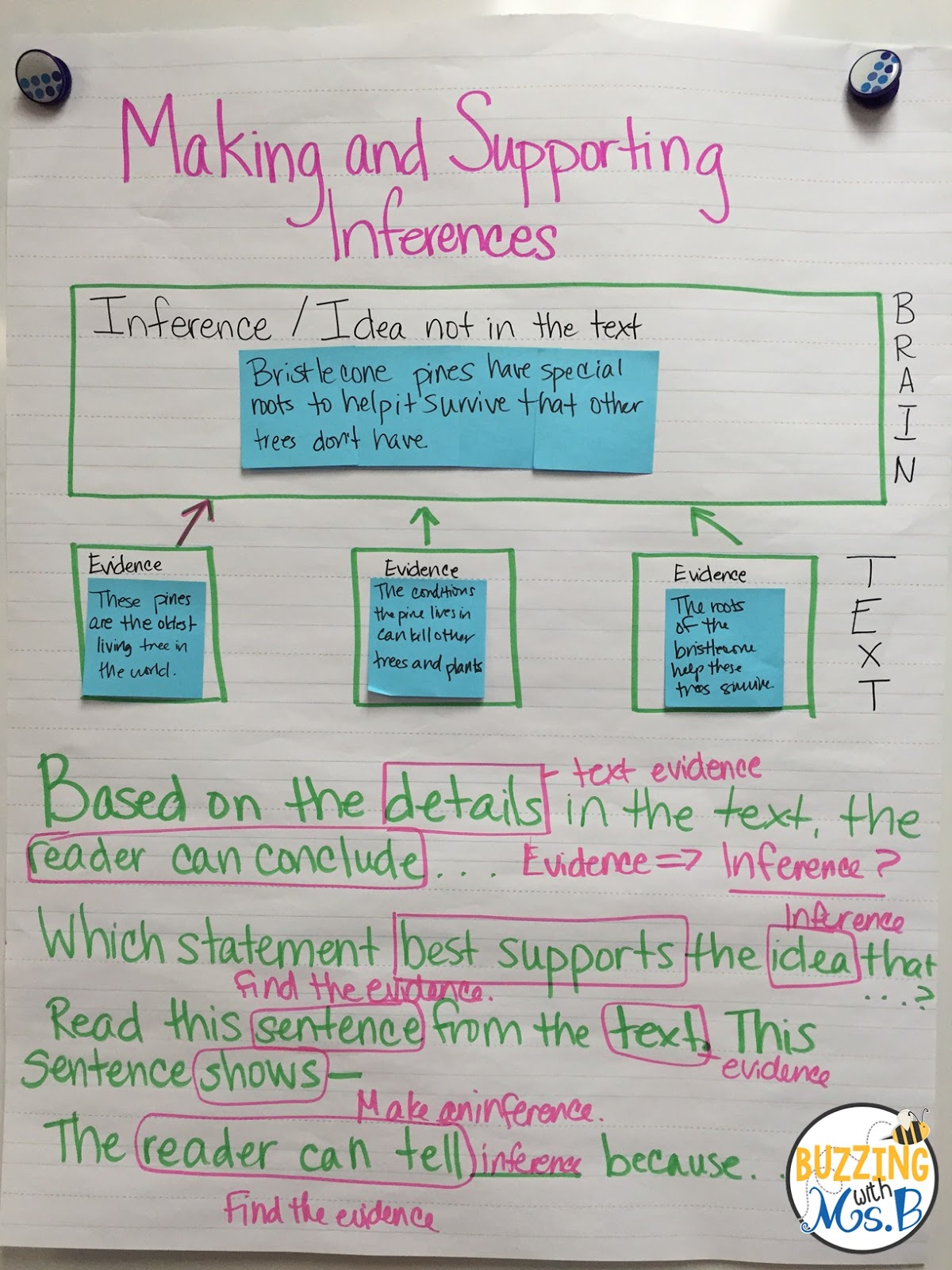 Buzzing With Ms B Making Inferences In Expository Text