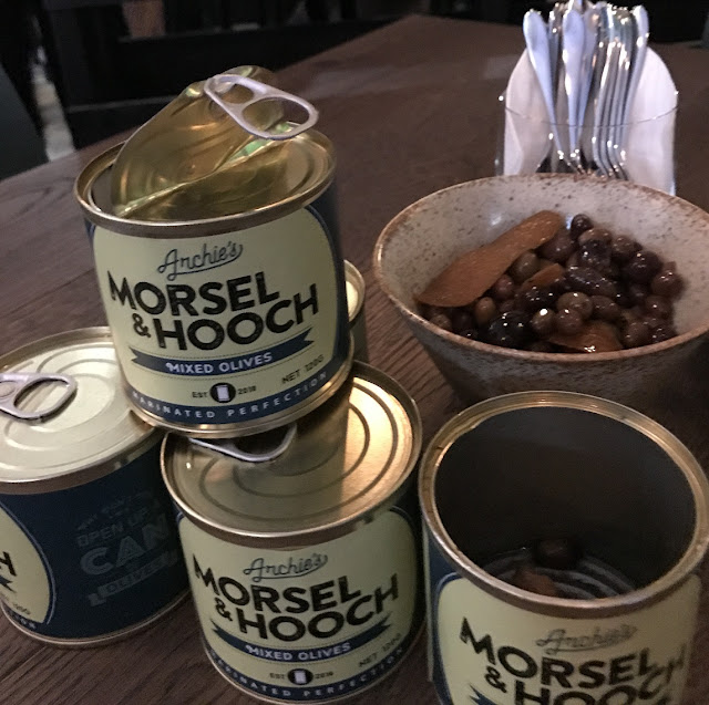 Archie Green Restaurant + Bar, Melbourne, canned olives