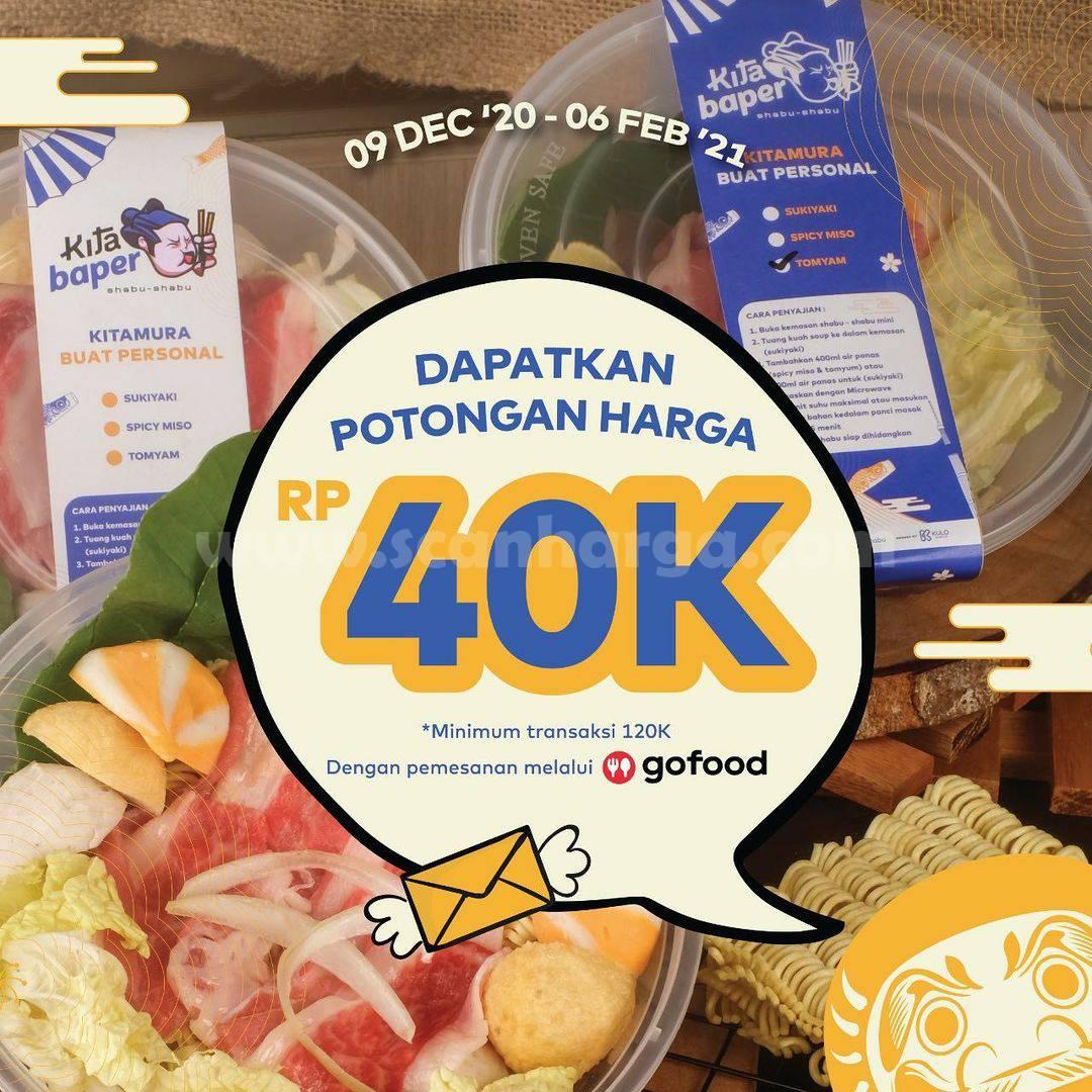 Promo KITAMURA SHABU Diskon Rp. 40.000 khusus via Gofood