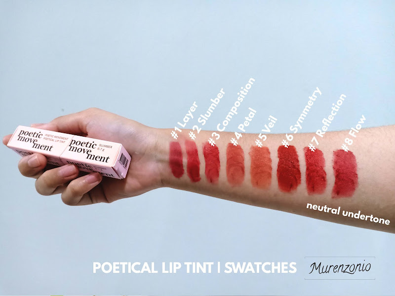 Poetical Lip Tint by POETIC MOVEMENT swatches