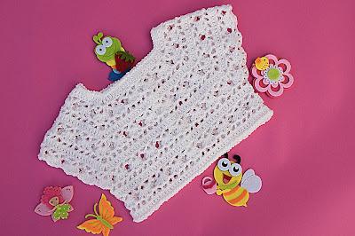 2 - Crochet Imagen Canesú blanco a crochet y ganchillo por Majovel Crochet