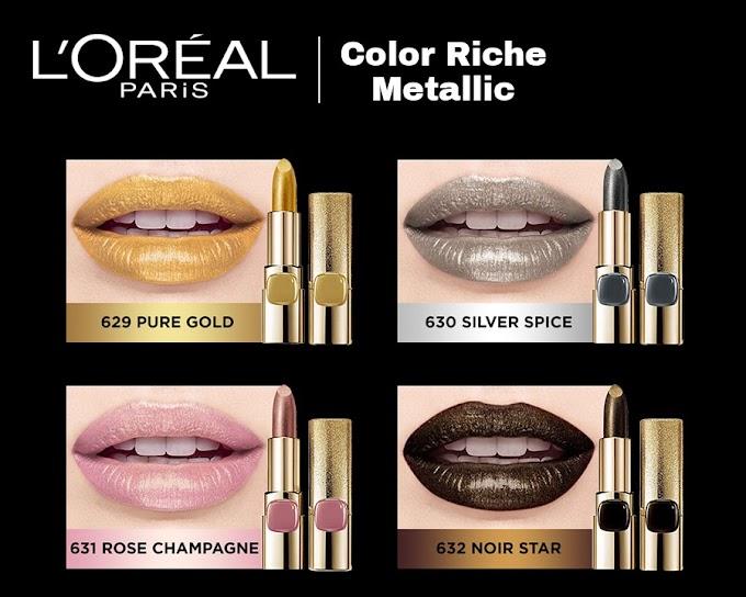 Review L'Oreal Paris Color Riche Metallic - Pure Gold (Limited Edition)