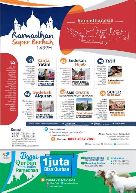 Program Ramadhan Super Berkah 1439 H / 2018 M Solo Peduli