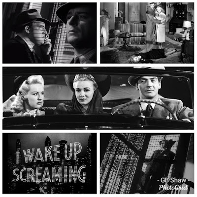 Collage of scenes from I Wake Up Screaming