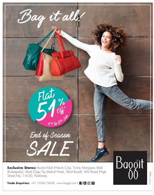 Baggit flat 51% off  Sale | January 2017 discount offers.