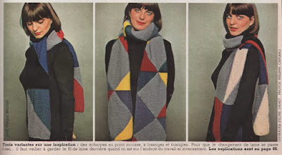 The Vintage Pattern Files: Free French 1970's Knitting Pattern - Trois variantes sur une inspiration
