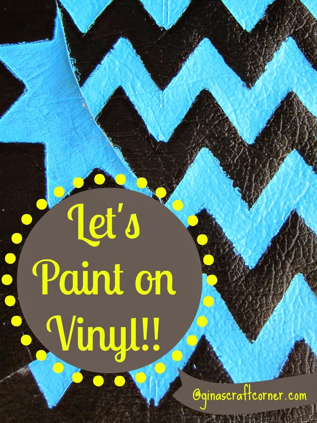 How to Paint on Vinyl-TUTORIAL