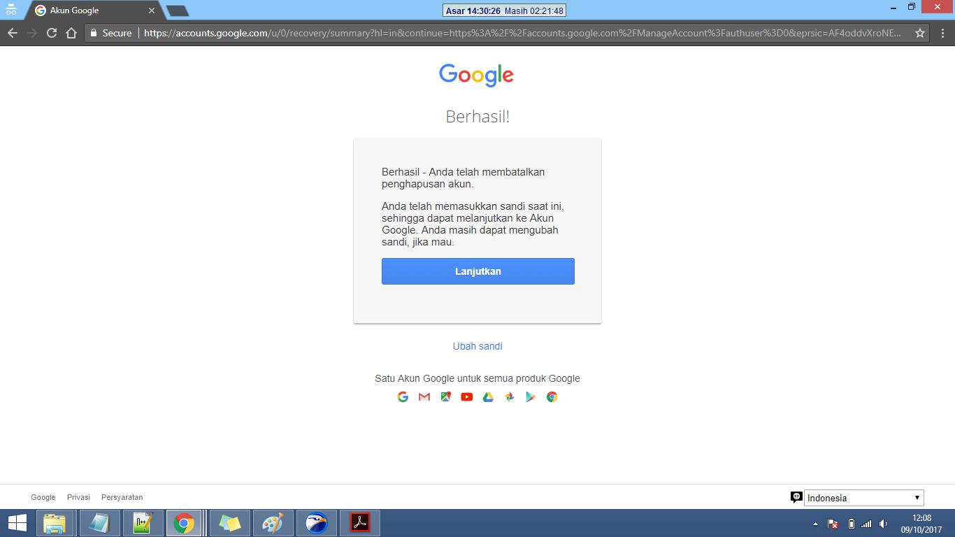 cara mengembalikan akun google