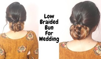 Low Braided Bun Hairstyle For Medium To Long Hair /Self Hairstyle /Hairstyle For Wedding