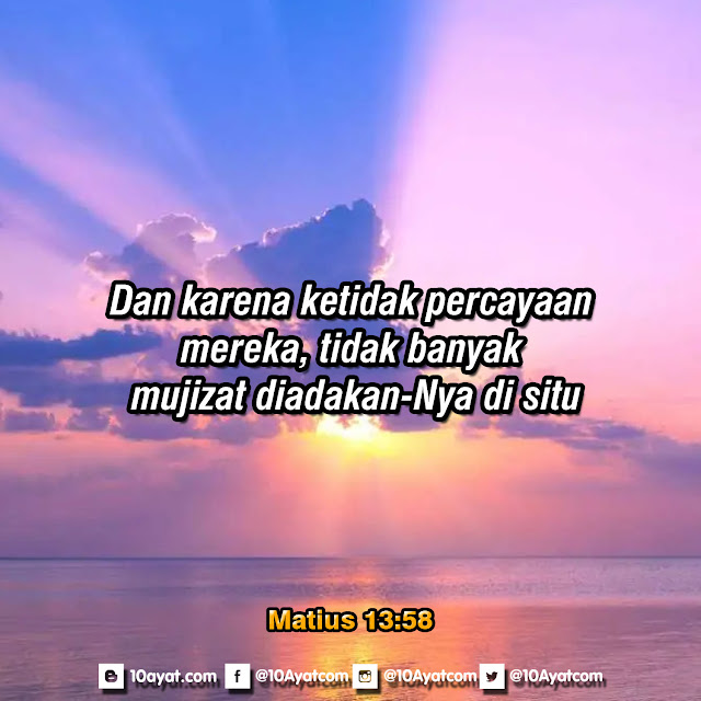 Matius 13:58