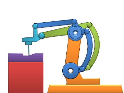 Mengintip cara gerak robot tangan