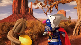 Super Grover 2.0 Prickly Problem Cactus ball, Sesame Street Episode 4304 Baby Bear Comes Clean
