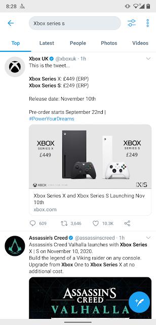 Xbox series S Price Post