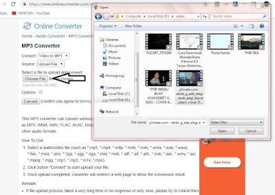 Cara Mengconvert Video Ke Mp3 Tanpa Aplikasi