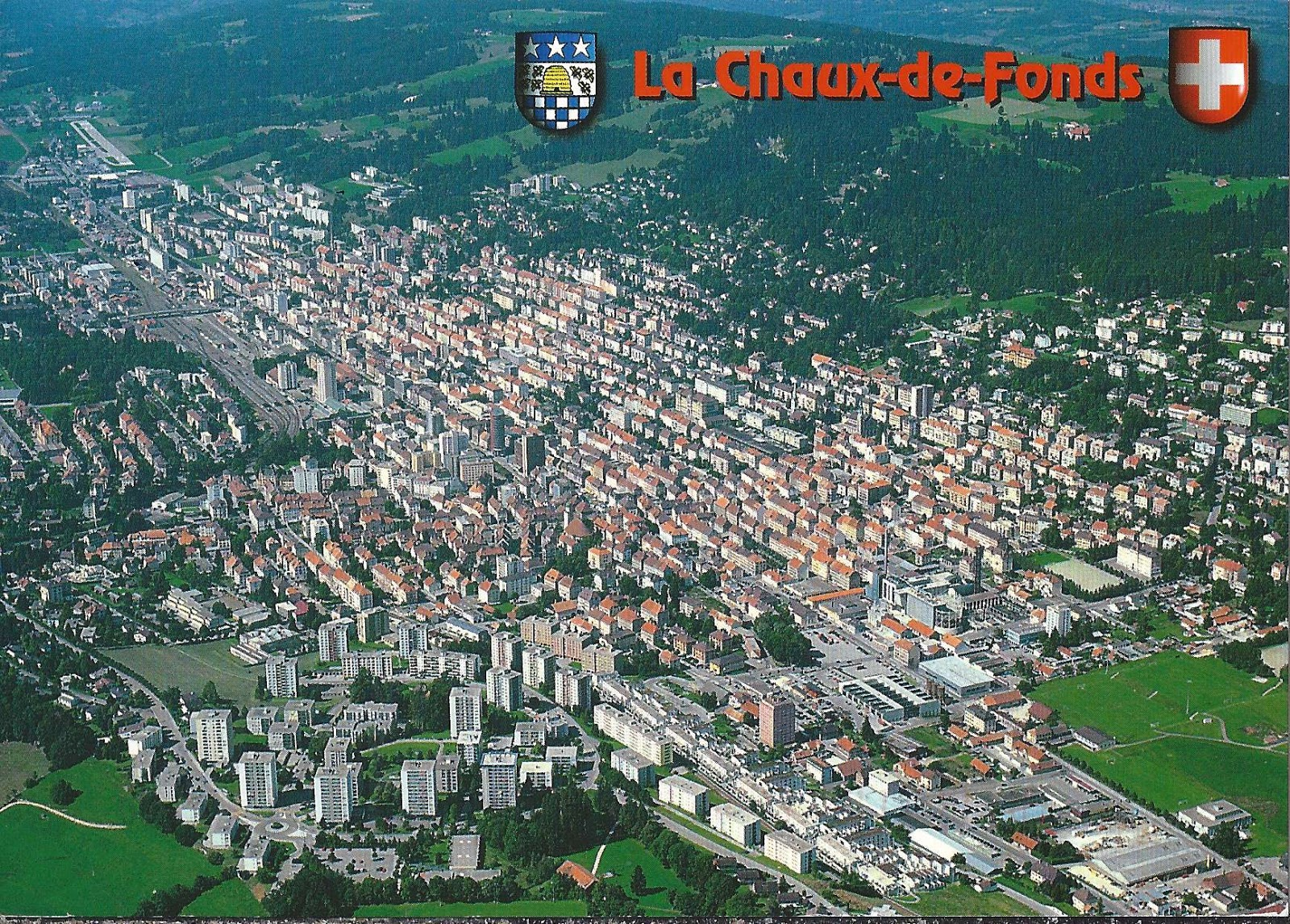 A journey of postcards la chaux de fonds switzerland - Office de tourisme la chaux de fonds ...