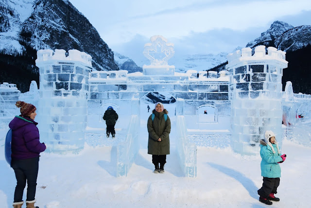 Farah H at the Lake Louise Ice Magic Festival 2019