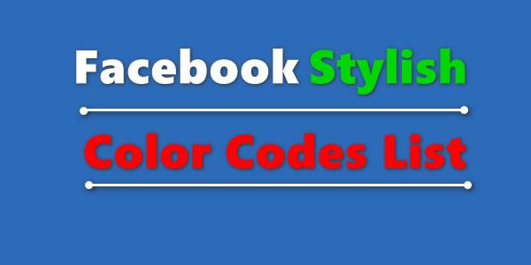 Stylish Fb Color Codes List for Fb Comment status - Fb Comment Color MeLikhe