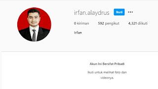 Profil Irfan Alaydrus, Calon Menantu HRS, Lulusan Fisika Nuklir ITB?