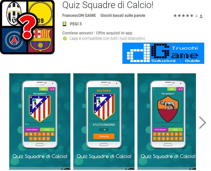 Soluzioni Quiz Squadre di Calcio!