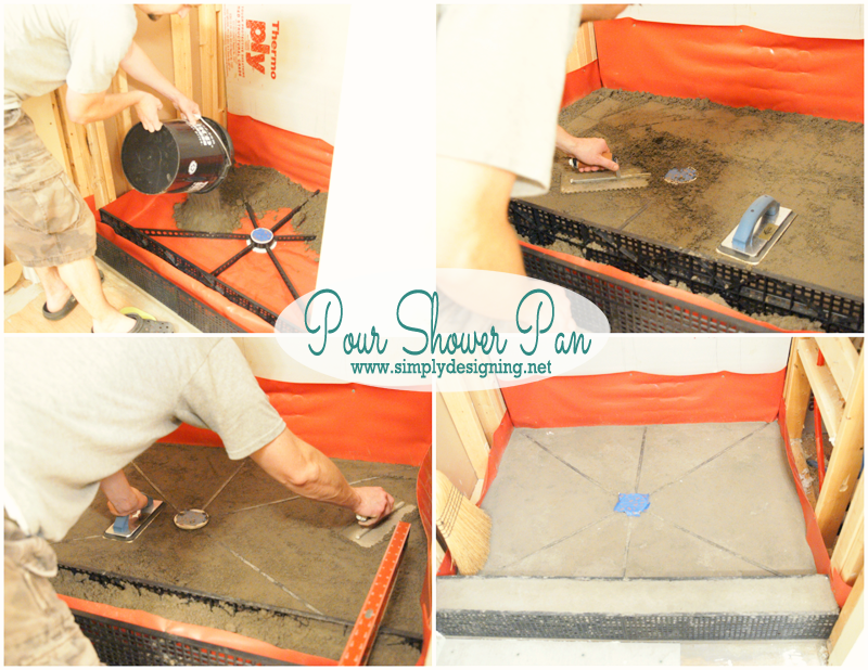 how to pour a shower pan how to create your own shower pan pin