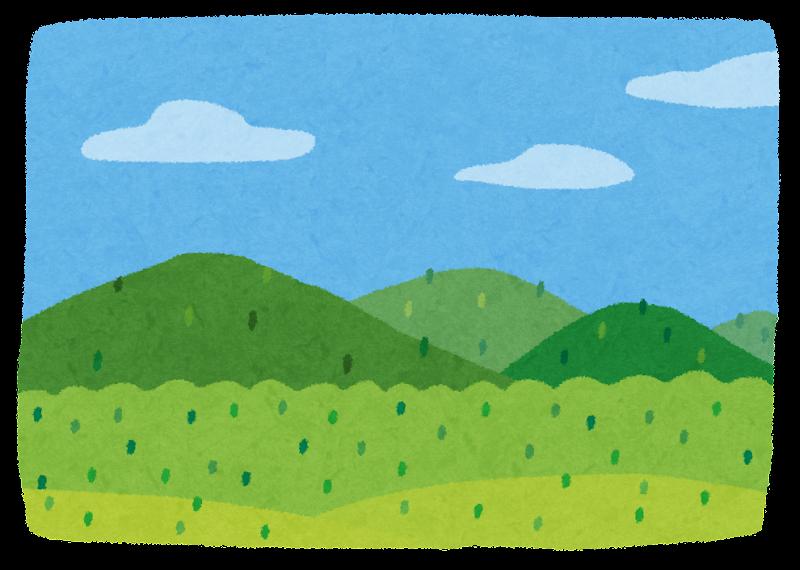 山の風景のイラスト かわいいフリー素材集 いらすとや