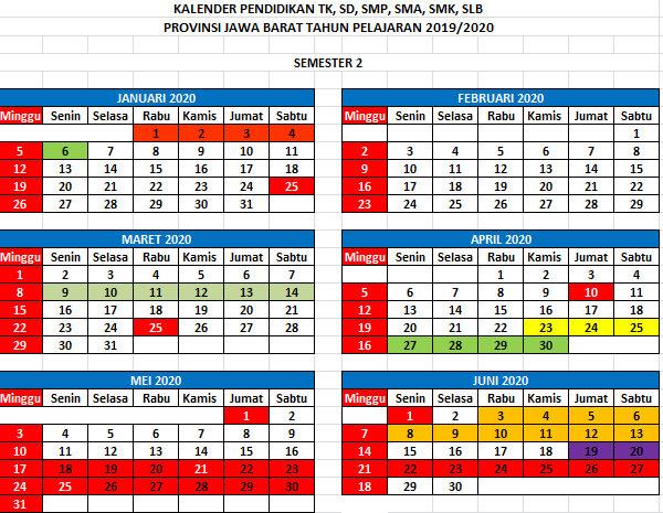 Kalender Pendidikan Tahun Pelajaran 20192020  Didno76com