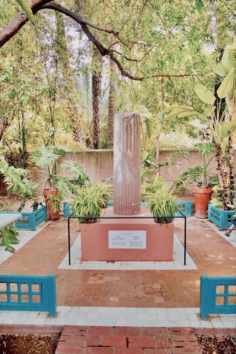 marrakesz ogród majorelle, Marrakesz ogród ysl, Laurent grób pomnik, Jardin majorelle,