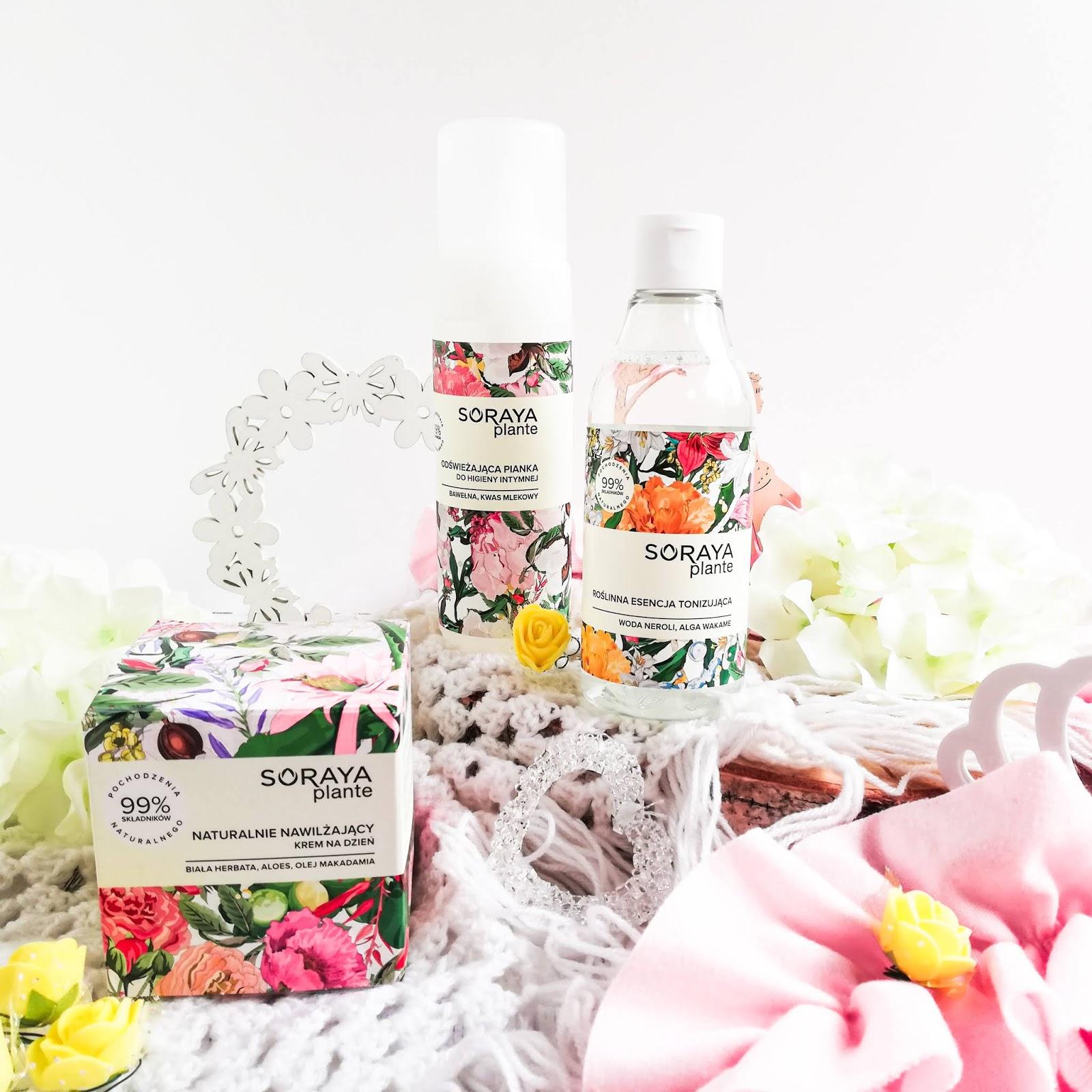 Soraya Plante | Kosmetyki do pielęgnacji twarzy oraz do pielęgnacji okolic intymnych | Roślinna esencja tonizująca | Naturalny nawilżający krem na dzień | Odświeżająca pianka do higieny intymnej