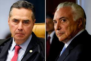 Barroso determina quebra de sigilo bancário de Temer