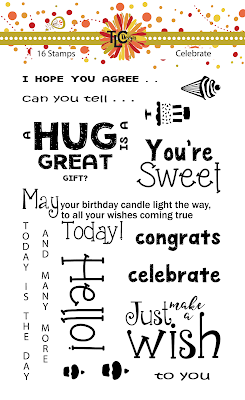 This is the Celebrate Polymer stamp set from TLC Designs.  For every occasion of greeting cards and paper crafting purposes
