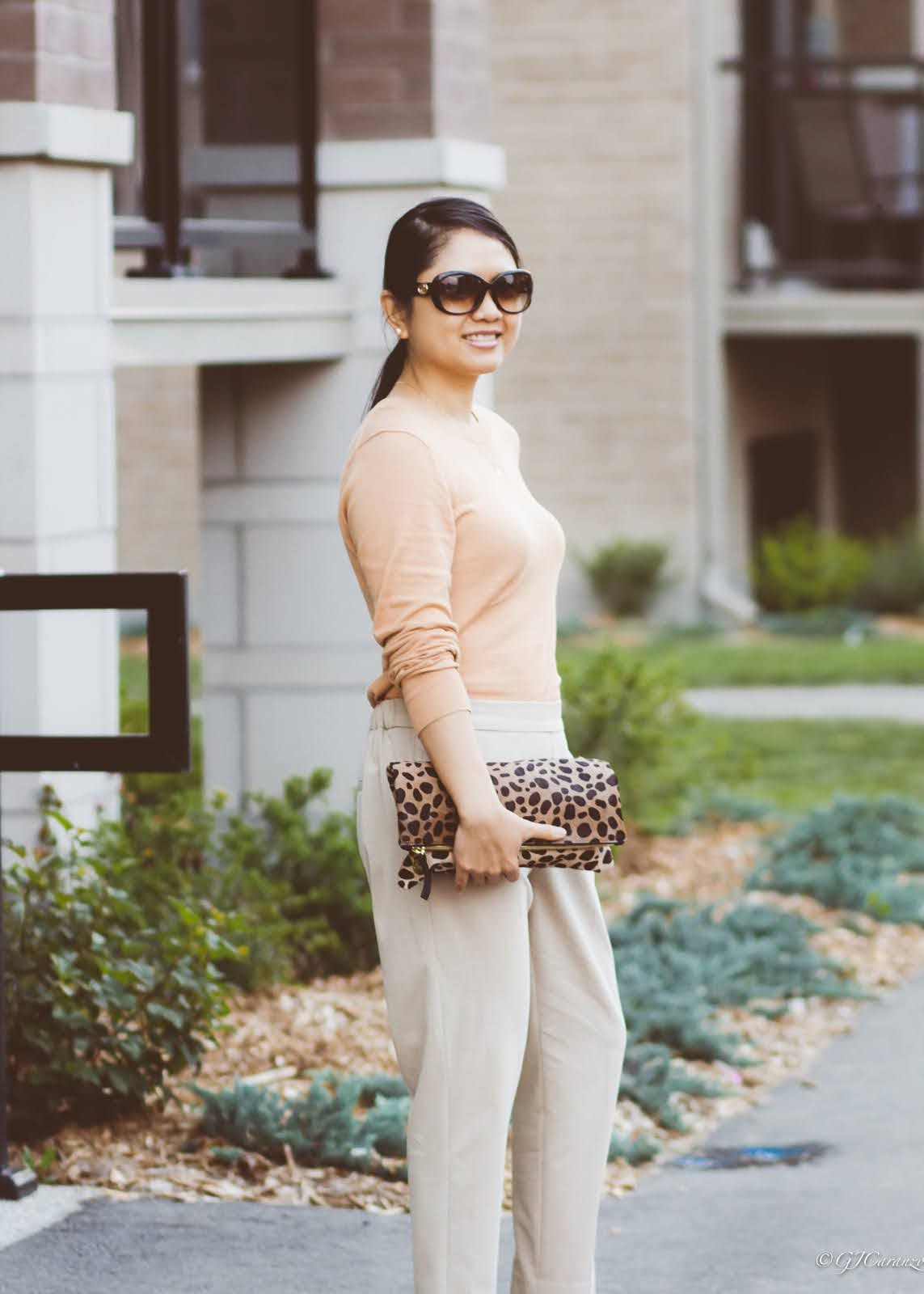 neutrals | petite outfit | work style