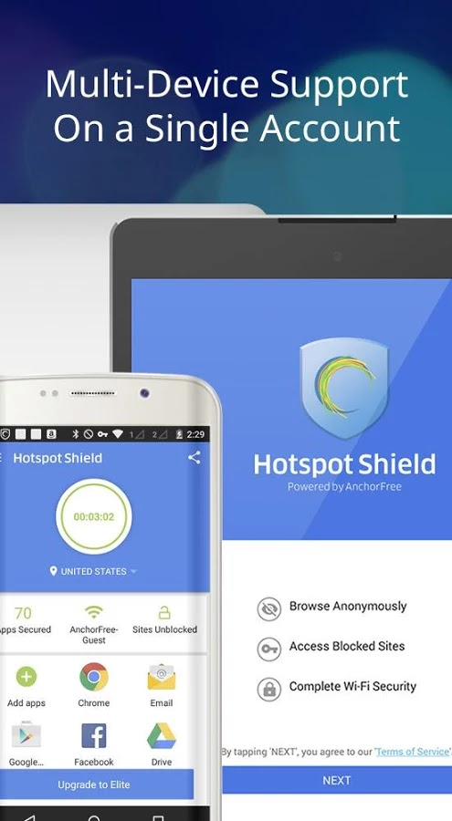 Hotspot Shield Elite 4.1.1 MOD APK [Latest]