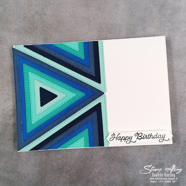 Stampin' Up! Stitched Triangle Note Card