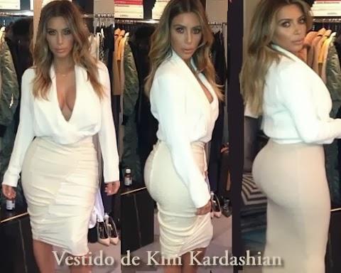 El sensacional vestido crema de Kim Kardashian en  el show de Ellen