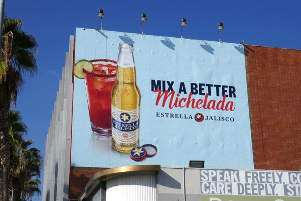 Estrella Jalisco Mix better Michelada billboard