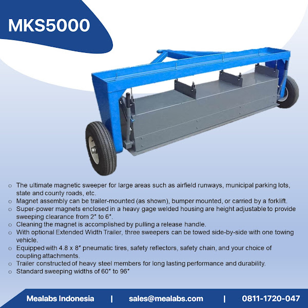 MKS5000 Military Grade Tow Behind Magnetic Sweeper