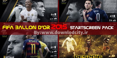 PES 2016 FIFA Ballon D'or 2015 StartScreen Pack By downlodcity