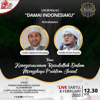 Saksikanlah Damai Indonesiaku Bersama Habib Nabiel Al Musawa dan Habib Ali bin Husein di TVOne 20200208 - Jadwal TV - Kajian Islam Tarakan