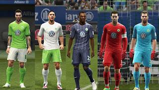 VfL Wolfsburg Kits 2016-2017 Pes 2013 By Vulcanzero