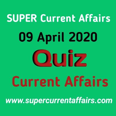 Current Affairs Quiz in Hindi - 9 April 2020