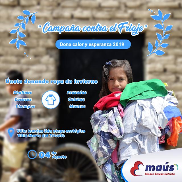 Campaña del Friaje en Villa María del Triunfo 2019